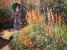 All of Claude Monet Paintings | Gladioli - Claude Monet - WikiPaintings.org