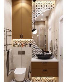 Classics, design or trend: the lights for the interior of the house adapt to your decor. Small Toilet Room, Small Bathroom, Modern Bathrooms, Rustic Bathroom Decor, Bathroom Interior, Bathroom Floor Tiles, Design Moderne, Bath Design, Bathroom Renovations
