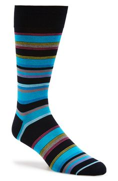#Elegant & amazing socks from #Italy - #Bugatchi #Stripe Cotton Blend Socks