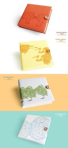 Design Journal - Elephant / Heron / Pelican / Blowfish ( hardcover / handmade). $14.90, via Etsy.