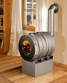 Nice Modern Take on a Wood Burning Stove