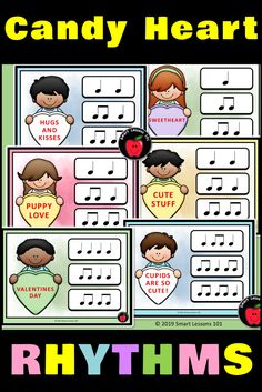 Valentines Day Music Game: Candy Heart Music Rhythms
