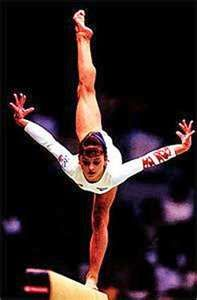 Dominique Moceanu from the 1996 Women's Olympic Team. She was my favorite back in the day!