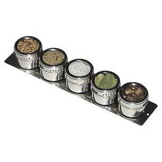 5-Piece Magnetic Spice Rack Set