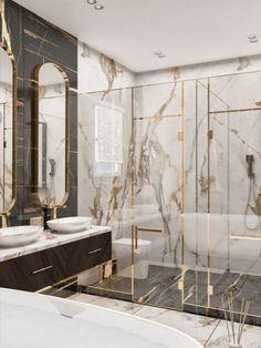 Home Room Design, Dream Home Design, Modern House Design, Interior Design Living Room, Washroom Design, Toilet Design, Bath Design, Modern Luxury Bathroom, Bathroom Design Luxury