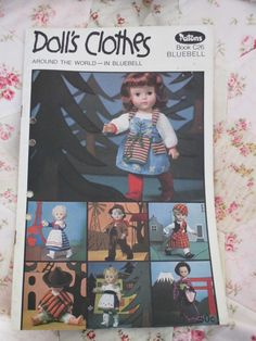 VINTAGE PATONS DOLL S CLOTHES AROUND THE WORLD PATTERN BOOK C26