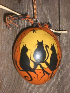 Halloween Vintage Style Dried Gourd Ornament 3 by TheRootCellar