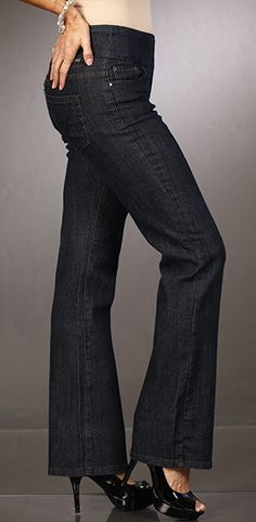 Jag jeans have an elastic waistband on top. So, I guess it's like maternity jeans for the non-pregnant??