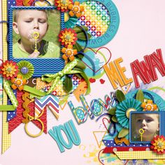 Digital Scrapbook Page by Cindy | Children at Play by Bella Gypsy