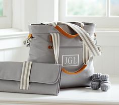Grey North/South Classic Nappy Bag