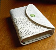 """Bible cover AND a doily? I think we have a winner. This Bible cover puts the """"fun"""" in """"fundamentalist""""!"""