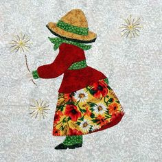Eveline und 1001 Quilts: Die Sunbonnets im Detail Sunbonnet Sue, Hand Applique, Applique Quilts, Applique Templates, Free Machine Embroidery Designs, Quilt Patterns, Quilting Ideas, Baby Sewing, Baby Quilts