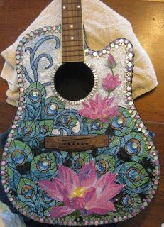 One of a kind beaded home decor and gifts: Beaded Guitar absolutely gorgeous
