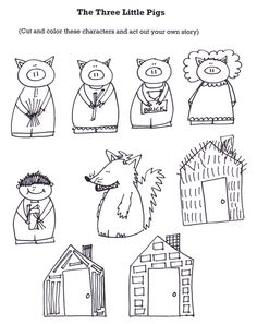 Three Little Pigs Coloring Pages for Preschool Practice . 3 Three Little Pigs Coloring Pages for Preschool Practice . 109 Best 3 Little Pigs Images Kindergarten Literacy, Literacy Activities, Reading Activities, Fairy Tales Unit, Fairy Tale Theme, Traditional Tales, Traditional Stories, Three Little Pigs, Retelling