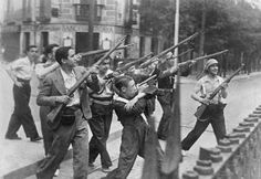 Spanish Civil War from 1936 ( july 17th) to 1939( april 1st)