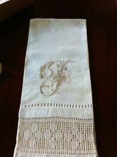 Old Tea Towel I Monohrammed!