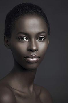 Black, amazing perfect skin.