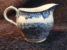 Salem China English Village Creamer Olde Staffordshire Blue - EXCELLENT #SalemChina