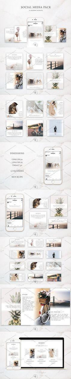Social Media Pack / Kit 2. Web Elements