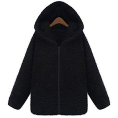 Womens Long Sleeve Loose Zipper Hoodie Zip Hooded Plush Coat *** Check out this great product. (This is an affiliate link and I receive a commission for the sales)