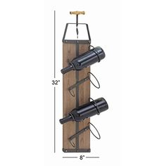 Studio 350 Wood Metal Wall Wine Rack 8 inches wide 32 inches high -- Visit the image link more details. (This is an affiliate link) Metal Walls, Wood And Metal, Wine Rack Wall, Wine Cabinets, Image Link, Studio, Studios, Studying, Wine Shelves