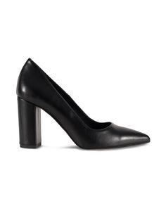 SANTE pointed toe and block heel pump for classy looks. How To Look Classy, Pumps Heels, Block Heels, Heeled Mules, Toe, Black, Fashion, Moda, Black People
