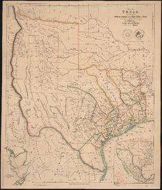 Map of Texas by John Arrowsmith (1790-1873).    For my friends at CTR Library, UT - Austin