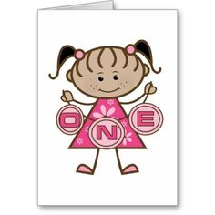 Little Girl 1st Birthday T-shirts and Gifts Cards