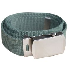 men canvas belt buckle 30mm length, 1.1m width - Green