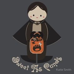 """Sweet As Candy Vampire Boy""  A Halloween onesie on Redbubble.com, original design by me"