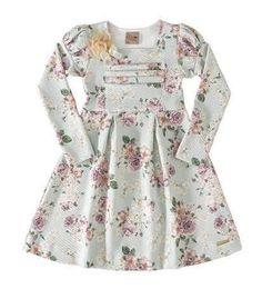 Vestido estampa floral manga longa 4906