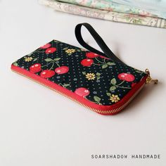 Cherry iPhone Case Zippered Phone Wallet Samsung by soarshadow
