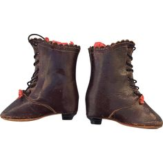 Fabulous pair of Antique, French Fashion Doll boots / salesman samples in excellent condition.