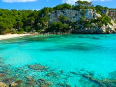 Cala Mitjana. One of the most amazing beaches from the south of Menorca