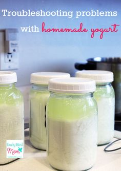 Making homemade yogurt is usually easy, but occasionally you may encounter problems. Here are some troubleshooting tips to make it simple. Homemade yogurt is a healthy and frugal snack that kids love so it pays to master this way to make homemade yogurt.