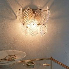 ccc* Glass Leaf Sconce #westelm