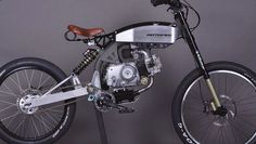 Motopeds' frame kit can transform your old Honda pit bike into this super fun moped of sorts. Custom Moped, Custom Bikes, Moto Bike, Motorcycle Bike, Powered Bicycle, Motorised Bike, Motorized Bicycle, Bicycle Design, Quad