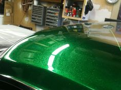 Just got my car back from paint, Midnight Pearl Green ...   Car Paint Green Brown
