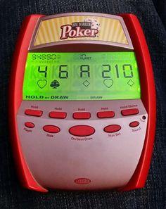 Radica Big Screen Poker Handheld Electronic Casino GAME 2005 Video Game Working  #Radica