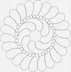 Design Information at KennyKreations - Beautiful Machine Embroidery: Feather and Pearl Wreath, Feathers