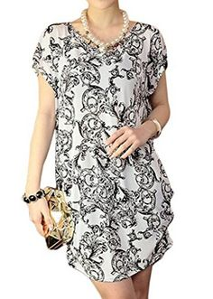 Alvak Elegant flower woemn Casual Side Ruching Tunic Pullover ShirtWAZ36 ** Be sure to check out this awesome product. Note: It's an affiliate link to Amazon.