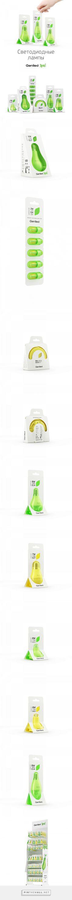 Geniled Bright Led Bulbs packaging design by Evgeniy Pelin - http://www.packagingoftheworld.com/2017/02/geniled-bright-led-bulbs.html