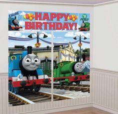 Thomas & Friends Giant Wall Scene Party Decor | Birthdays, Scene ...