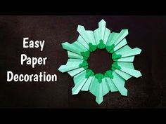 Paper art decorating flower Hello friends, I'm Bhushan welcome to My Crafts and Arts by Bhushan. In this video, we are going to make paper art decorating flo. Paper Art, Paper Crafts, Origami Flowers, Origami Paper, How To Make Paper, Paper Decorations, Art Decor, Make It Yourself, Decorating