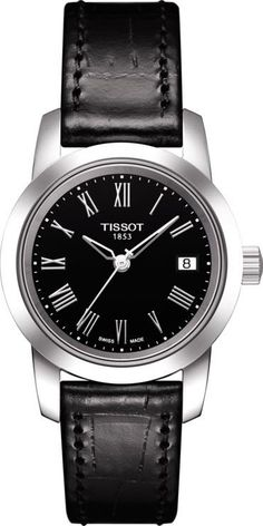 Tissot Watch Classic Dream Ladies #add-content #bezel-fixed #bracelet-strap-leather #brand-tissot #case-depth-7-4mm #case-material-steel #case-width-28mm #date-yes #delivery-timescale-call-us #dial-colour-black #gender-ladies #luxury #movement-quartz-battery #new-product-yes #official-stockist-for-tissot-watches #packaging-tissot-watch-packaging #style-dress #subcat-t-classic #supplier-model-no-t0332101605300 #warranty-tissot-official-2-year-guarantee #water-resistant-30m
