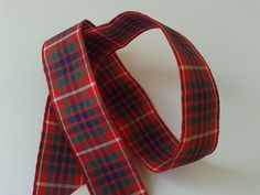 Fraser Tartan Ribbon  25mm  10 metres by AuntyJoanCrafts on Etsy, £4.95