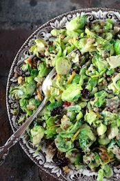 Cal-Style Shaved Brussels Sprouts Salad- with Lentils, Cranberries, Walnuts, Chestnuts, and Orange Zest Orange Tahini Dressing- recipe- Outrageously Delicious! Sprouts Salad, Brussel Sprout Salad, Brussels Sprouts, Salad Recipes, Vegan Recipes, Cooking Recipes, Delicious Recipes, Tasty, Clean Eating