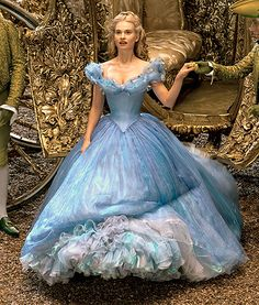 "*I'm just pinning this because I can and I love Cinderella* But seriously, this is a fantastic example of a Crinoline dress in the movies, because there are many examples of this. ""The countless layers of tulle on the petticoat and no less than four miles of thread."""