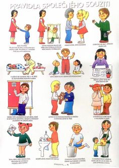 Výsledek obrázku pro pravidla chování ve škole Preschool Decor, Classroom Management, Kids And Parenting, Montessori, Adhd, Kindergarten, Homeschool, Crafts For Kids, Teaching