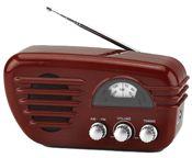 Rádio Vintage Vermelho AM e FM New  Ref. UBradiovintanewver    clique para ampliar  Este radio a pilha com design Vintage é um charmoso objeto. É possivel sintonizar as rádios AM e FM.   A linguagem Vintage de poucos botões, agrada os preguiçosos e os nostálgicos.  Com certeza causará curiosidade de quem o observar!     Produto Importado.  Origem: Holanda  R$ 125,00